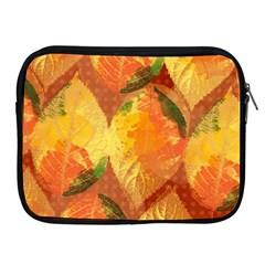 Fall Colors Leaves Pattern Apple iPad 2/3/4 Zipper Cases