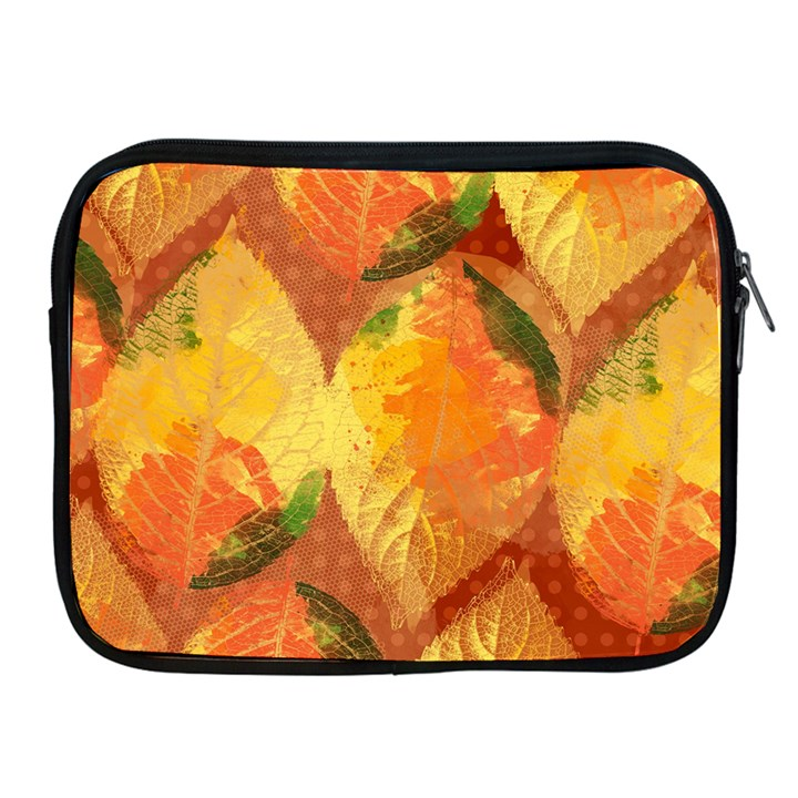 Fall Colors Leaves Pattern Apple iPad 2/3/4 Zipper Cases