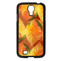 Fall Colors Leaves Pattern Samsung Galaxy S4 I9500/ I9505 Case (black) by DanaeStudio