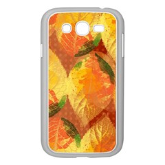 Fall Colors Leaves Pattern Samsung Galaxy Grand Duos I9082 Case (white) by DanaeStudio