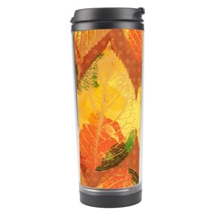 Fall Colors Leaves Pattern Travel Tumbler