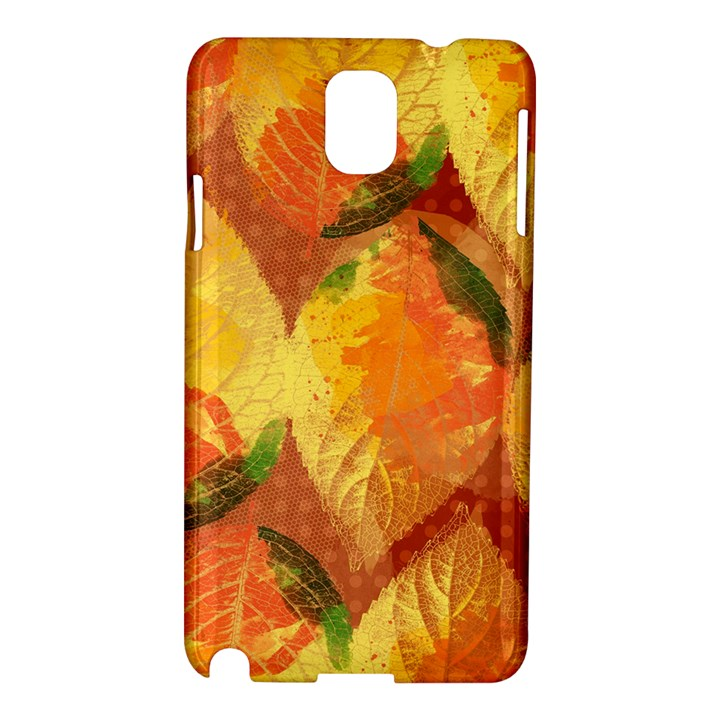 Fall Colors Leaves Pattern Samsung Galaxy Note 3 N9005 Hardshell Case