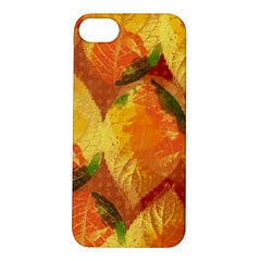 Fall Colors Leaves Pattern Apple Iphone 5s/ Se Hardshell Case by DanaeStudio