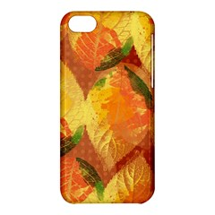Fall Colors Leaves Pattern Apple Iphone 5c Hardshell Case by DanaeStudio
