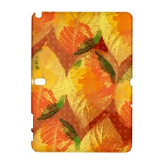 Fall Colors Leaves Pattern Samsung Galaxy Note 10 1 (p600) Hardshell Case by DanaeStudio