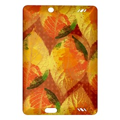 Fall Colors Leaves Pattern Amazon Kindle Fire Hd (2013) Hardshell Case by DanaeStudio