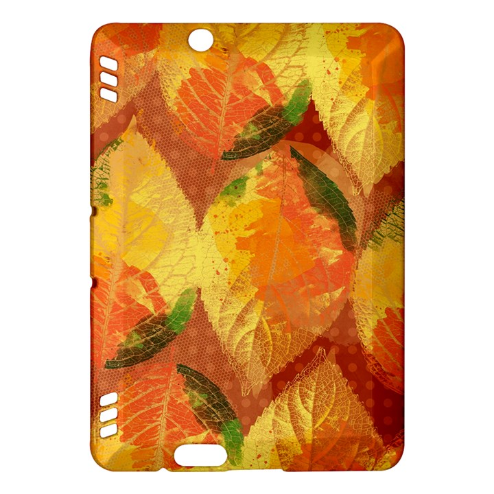 Fall Colors Leaves Pattern Kindle Fire HDX Hardshell Case