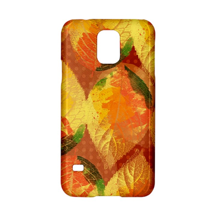 Fall Colors Leaves Pattern Samsung Galaxy S5 Hardshell Case