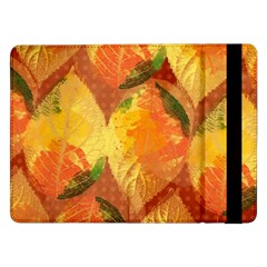 Fall Colors Leaves Pattern Samsung Galaxy Tab Pro 12 2  Flip Case