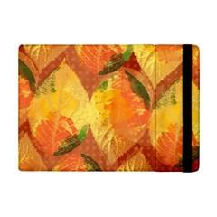 Fall Colors Leaves Pattern iPad Mini 2 Flip Cases