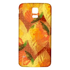 Fall Colors Leaves Pattern Samsung Galaxy S5 Back Case (white) by DanaeStudio