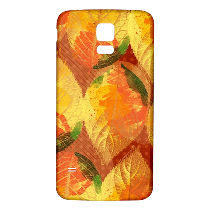 Fall Colors Leaves Pattern Samsung Galaxy S5 Back Case (White)