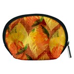 Fall Colors Leaves Pattern Accessory Pouches (Medium)  Back