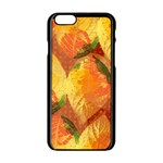 Fall Colors Leaves Pattern Apple iPhone 6/6S Black Enamel Case Front