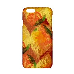 Fall Colors Leaves Pattern Apple Iphone 6/6s Hardshell Case by DanaeStudio
