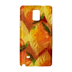 Fall Colors Leaves Pattern Samsung Galaxy Note 4 Hardshell Case by DanaeStudio