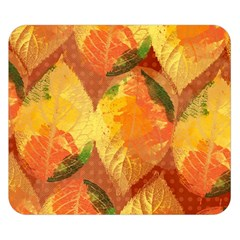 Fall Colors Leaves Pattern Double Sided Flano Blanket (small)  by DanaeStudio