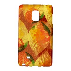 Fall Colors Leaves Pattern Galaxy Note Edge by DanaeStudio