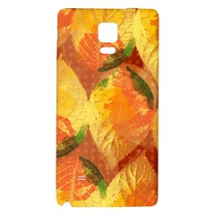 Fall Colors Leaves Pattern Galaxy Note 4 Back Case by DanaeStudio