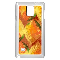 Fall Colors Leaves Pattern Samsung Galaxy Note 4 Case (white) by DanaeStudio