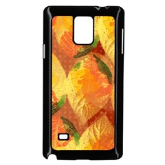 Fall Colors Leaves Pattern Samsung Galaxy Note 4 Case (black) by DanaeStudio