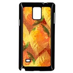 Fall Colors Leaves Pattern Samsung Galaxy Note 4 Case (Black) Front