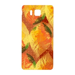 Fall Colors Leaves Pattern Samsung Galaxy Alpha Hardshell Back Case by DanaeStudio