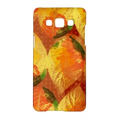 Fall Colors Leaves Pattern Samsung Galaxy A5 Hardshell Case  by DanaeStudio