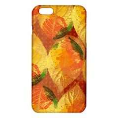 Fall Colors Leaves Pattern Iphone 6 Plus/6s Plus Tpu Case by DanaeStudio