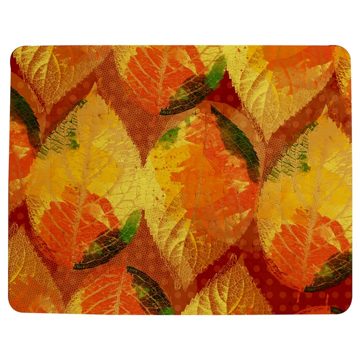 Fall Colors Leaves Pattern Jigsaw Puzzle Photo Stand (Rectangular)