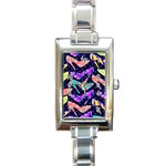 Colorful High Heels Pattern Rectangle Italian Charm Watch Front