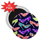 Colorful High Heels Pattern 2.25  Magnets (10 pack)  Front