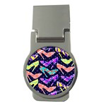 Colorful High Heels Pattern Money Clips (Round)  Front