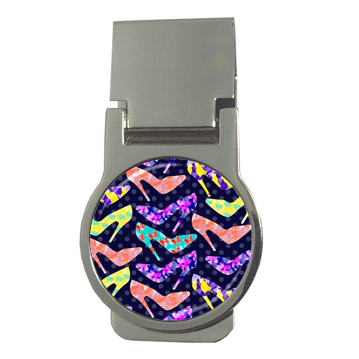 Colorful High Heels Pattern Money Clips (Round)