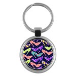 Colorful High Heels Pattern Key Chains (Round)
