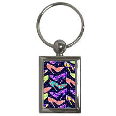 Colorful High Heels Pattern Key Chains (rectangle)  by DanaeStudio