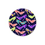 Colorful High Heels Pattern Magnet 3  (Round) Front