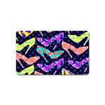 Colorful High Heels Pattern Magnet (Name Card)