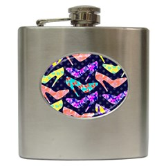 Colorful High Heels Pattern Hip Flask (6 Oz) by DanaeStudio