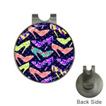 Colorful High Heels Pattern Hat Clips with Golf Markers