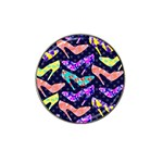 Colorful High Heels Pattern Hat Clip Ball Marker Front