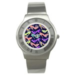 Colorful High Heels Pattern Stainless Steel Watch Front