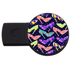 Colorful High Heels Pattern Usb Flash Drive Round (4 Gb)