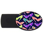 Colorful High Heels Pattern USB Flash Drive Oval (4 GB)  Front