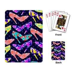 Colorful High Heels Pattern Playing Card by DanaeStudio