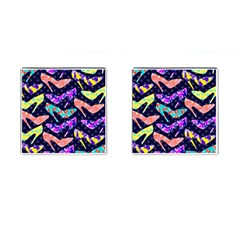 Colorful High Heels Pattern Cufflinks (square) by DanaeStudio