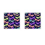 Colorful High Heels Pattern Cufflinks (Square)