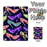 Colorful High Heels Pattern Playing Cards 54 Designs  Front - Spade4
