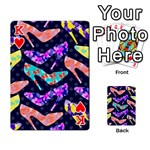Colorful High Heels Pattern Playing Cards 54 Designs  Front - HeartK