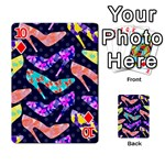 Colorful High Heels Pattern Playing Cards 54 Designs  Front - Diamond10